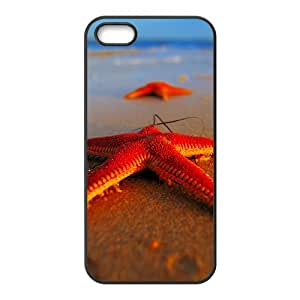 Charming beach and starfish Phone Case for iPhone 5S(TPU)