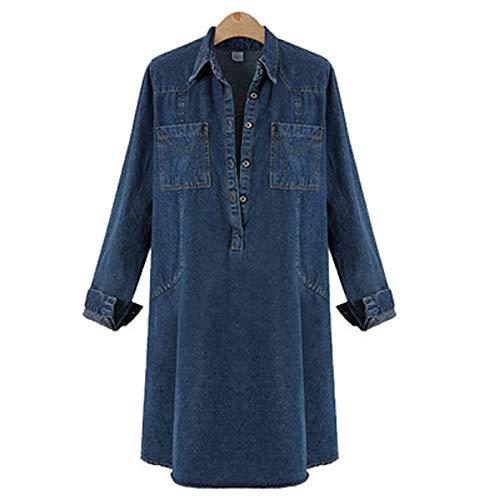 en Denim Jupe Bleu Mode FuweiEncore Marin la EqPdwqn5