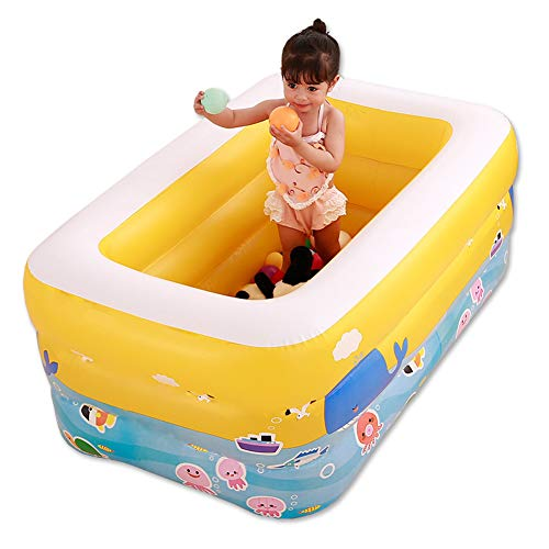 SqsYqz Inflatable Pool Family Children's Pool Water Toys Inflatable Swimming Pool Independent Layered Airbag Large Drainage More Thoroughly,Single