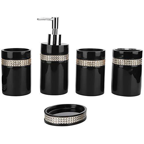 OIHODFHB 5 Stks Set Badkamer Accessoire Sets Zeep Schotel Dispenser Tandenborstel Pasta Houder Wassen Cup Bad Set