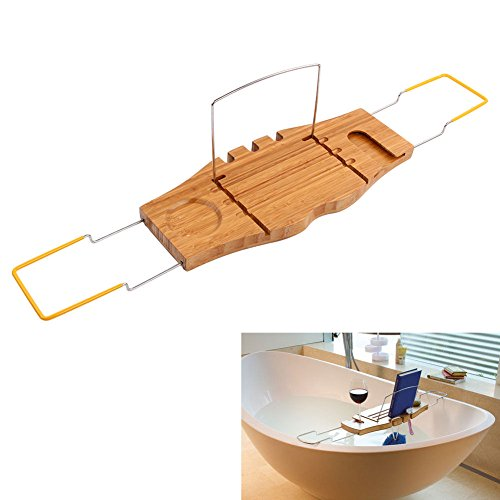 Bathtub Rack Bath Bridge Over Tidy Bamboo Shower Portable Storage Holder Shelf - Lever Bridge Mixer