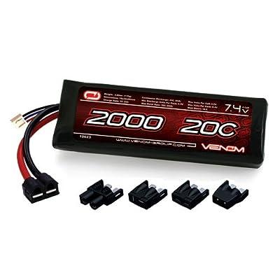 Venom 20C 2S 2000mAh 7.4V LiPo Battery with Universal Plug (EC3/Deans/Traxxas/Tamiya)