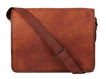 Amazon.com | 15 Inch Leather Vintage Rustic Crossbody Messenger ...