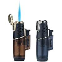 Aansteker Winddicht Turbo Strong Flame Gas Butaan Navulbare brander aansteker met butaan raamaccessoires voor heren 2…
