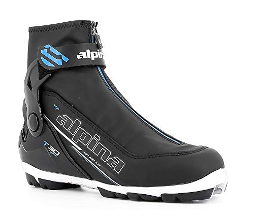 Alpina Sports T30-Eve Cross-Country Touring Ski Boots, Black/White/Blue, Size 41 Cross Country Touring Ski Boots