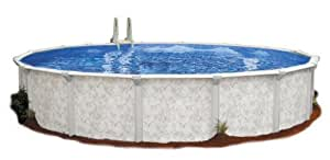 Embassy Pool 4-3418 PARA101 Above Ground Swimming Pool, 34-Feet by 18-Feet by 52-Inch, Silver Tone