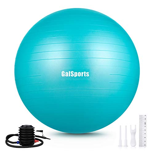 GalSports Exercise Ball (45cm-75cm), Yoga Ball Chair with Quick Pump, Stability Fitness Ball for Birthing & Core…