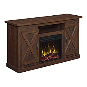Comfort Smart Killian Electric Fireplace TV Stand, Espresso
