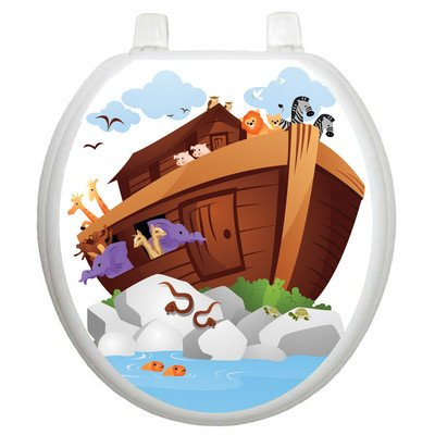 Toilet Tattoos Noah's Ark Decorative Applique For Toilet Lid