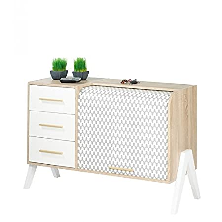 Simmob - Vintage Curtain Wave 3 Input Drawer Unit White Feet Feet ...