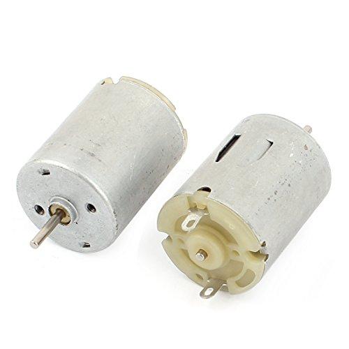 sourcingmap® DC 3-9V 14400 TR/MIN En Forme De Cylindre Micro-moteur 2mm Diamètre Arbre 2 Pcs
