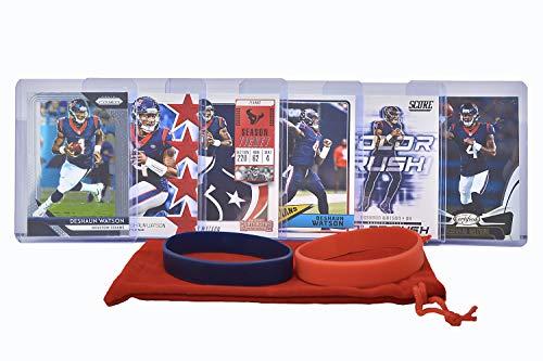 Deshaun Watson Football Cards (6) Assorted Bundle - Houston Texans Trading Card Gift Set