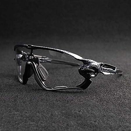 Ophelia Fotocromáticas polarizados vidrios de Ciclo Gafas de Bicicletas de Cristal for Bicicleta equitación Ciclismo Pesca Gafas de Sol. Los vidrios de Ciclo (Color : Black/Black, Size : M): Amazon.es: Hogar