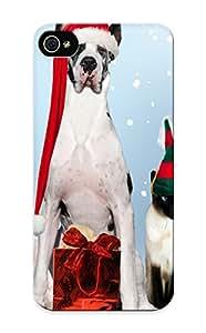 Premium Tpu Holidays Christmas Seasonal Dogs Cover Skin For Iphone 5/5s