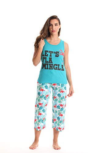 (Just Love Womens Pajamas Cotton Capri Set 6329-10385-L )