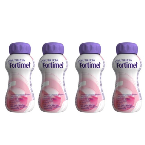 Fortimel Protein Supplement Strawberry Pack 4 X 200ml For Sale
