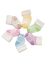 Chinatera Newborn Baby Socks Infant Soft Striped Cotton Socks (Color Random)