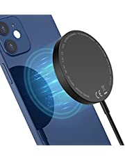 Magnetic Wireless Charger Pad with Detachable Case, EuSeneo Wireless Charger Compatible with Magsafe, Dual Charging Ports for iPhone 12/12 Mini/12 Pro/12 Pro Max (No AC Adapter)