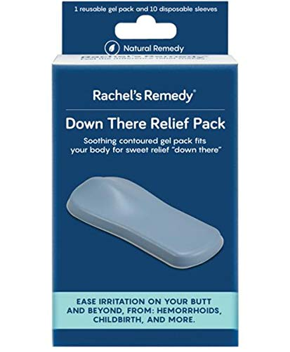 Rachel's Remedy Down There Relief Pack, hemorrhoid Treatment, ice Pack, Reusable Gel pad/Perineum icepack, Postpartum Care, Recovery, Fissure Relief (Best Remedy For Hemorrhoid Pain)