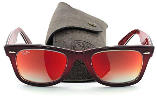 Ray-Ban RB2140 Original Wayfarer PIXEL Sunglasses (Brown Pink Frame/Mirror Gradient Lens 12004W, ()