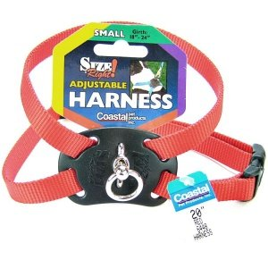 Coastal Pet Size Right Adjustable Harness Red 18 to 24 Inches Girth with a Width of 5/8 in.