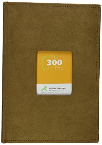 Golden State Art Álbum de fotos, puede contener 300 fotos de 10 x 15 cm, 3 por página, cubierta de gamuza, N55019-3 ,...