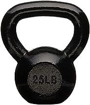 AmazonBasics Enamel Cast Iron Kettlebell - 15 Pounds, Black