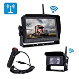 Digital Wireless Backup Camera for RV/Trailer/Truck/Bus/Boat with 7'' Rear View Camera Screen High-Speed