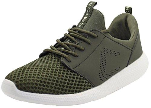 CrossHatch Neu Herren Turnschuhe Leichte Laufschuhe Sneakers Atmungsaktives Mesh Schuhe Green Beetle