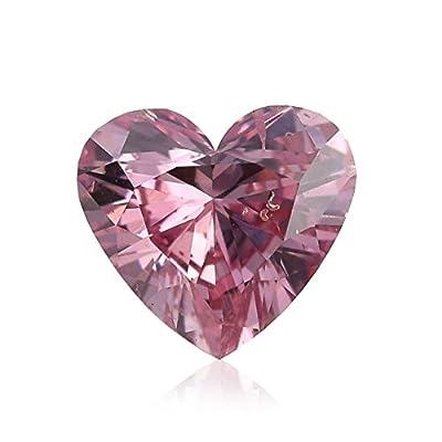 0.64 Carat Argyle Fancy Intense Pink Loose Diamond Natural Color Heart Shape GIA