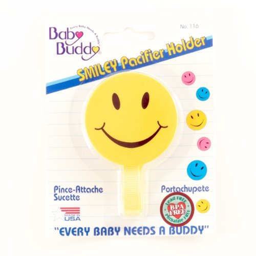 Smiley Pacifier Holder Assorted Colors (Pack Of 72)
