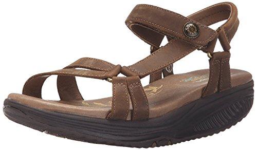 Skechers Cali Women's Tone Ups-5 Platform Sandal, Brown, 8 M US