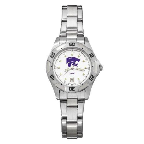 NCAA Kansas State Wildcats Women's All-Pro Chrome Watch by Logo Art