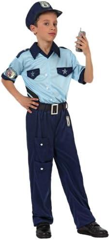 Atosa-10945 Policía Disfraz Policía, color celeste, 7 a 9 años ...