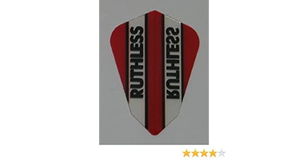 RED RUTHLESS STANDARD SHAPE CLEAR PANEL FLIGHTS