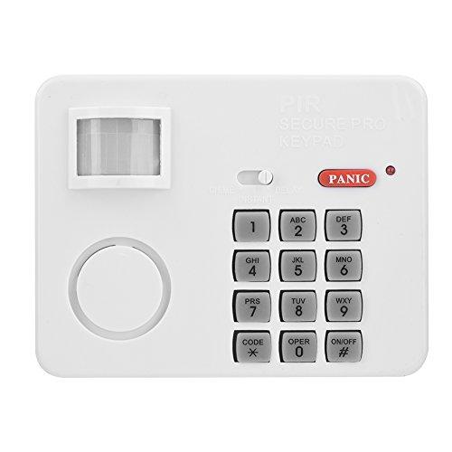 105DB Password Wireless Home Security Emergency Keypad Alarm Siren, Zerone 105 Alarm PIR Motion Sensor Detectors Door Window Home Security System