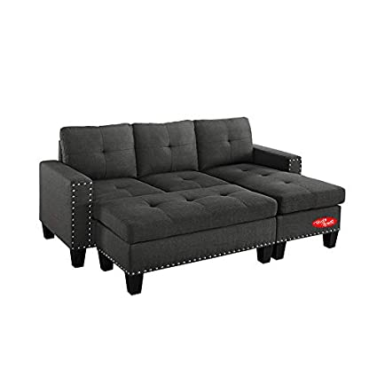 Swell Amazon Com Sectional Sofa With Chaise And Ottoman 4 Pieces Download Free Architecture Designs Terstmadebymaigaardcom