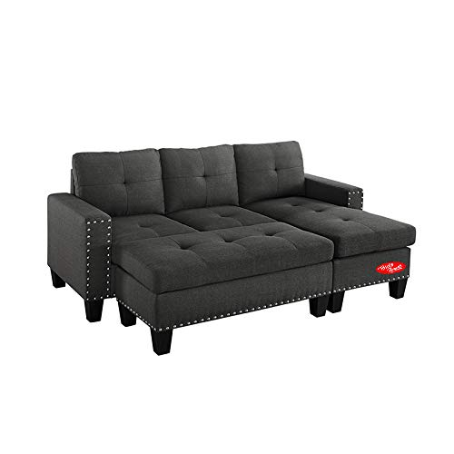 Fabulous Amazon Com Sectional Sofa With Chaise And Ottoman 4 Pieces Download Free Architecture Designs Terstmadebymaigaardcom