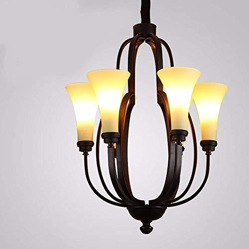 EI Sala de Estar Comedor Dormitorio Gran iluminacion Decorativa American Iron Retro Industrial Air Cafes Hoteles Clubes y Six Head (67 * 52cm)