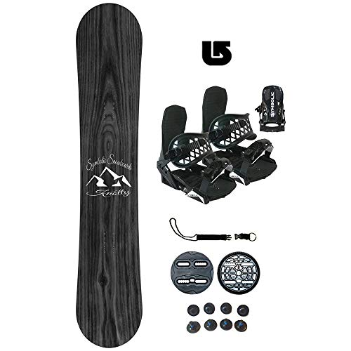 Symbolic Knotty-2 Kids Snowboard & Bindings & Leash & Burton Decal Package