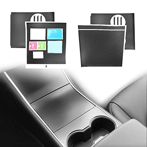 - iFJF T-Series Tesla Model 3 Center Console Wrap, Matte Black, Easy and Fast Installation, Designed for the first time installer