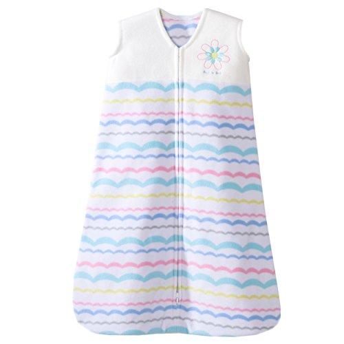 HALO SleepSack Micro Fleece Wearable Blanket, Pink Ribbon Pom Poms, Small
