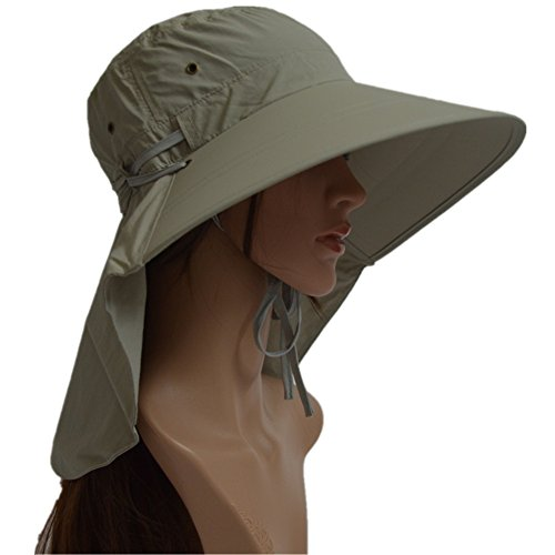 739965866dd LGLR Womens Summer Anti-UV Protection Sun Hat Wide Brim Flap Cover Cap with  Neck