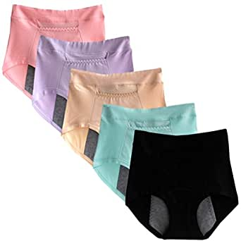 Sept.Filles Women's Invisible Panties Cycles-Period Leakproof Packs Of 5 (5 Colors)