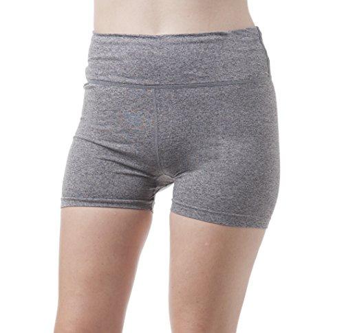 da unita Charcoal tinta senza cuciture Pantaloncini donna Khanomak sportivi 6qB0BE