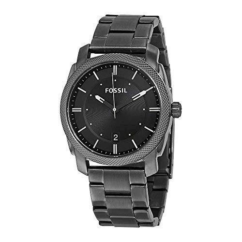 Fossil Men's FS4774 Machine Smoke Stainless Steel Bracelet Watch (Case Watches Fossil)