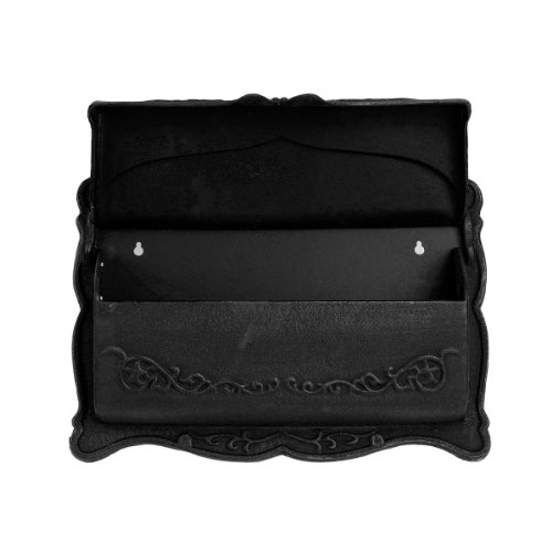 Wall Mount Mailbox Small Cast Aluminum Mail Box Letter Box Black Brand New by Goplus (Image #1)