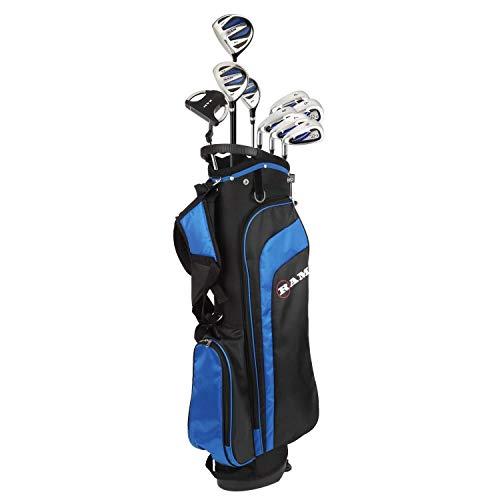 RAM Golf EZ3 Mens Golf Clubs Set with Stand Bag - Graphite/Steel Shafts (Graphite/Steel, Left)