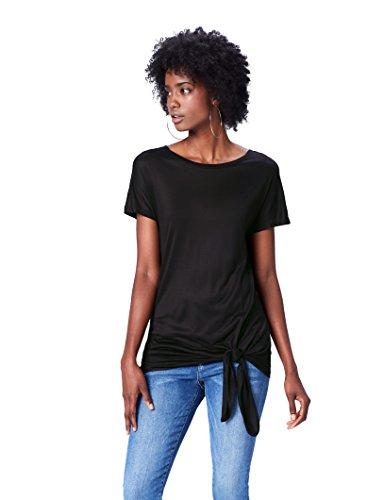 FIND T-Shirt Girocollo Oversize Donna Nero (Black)
