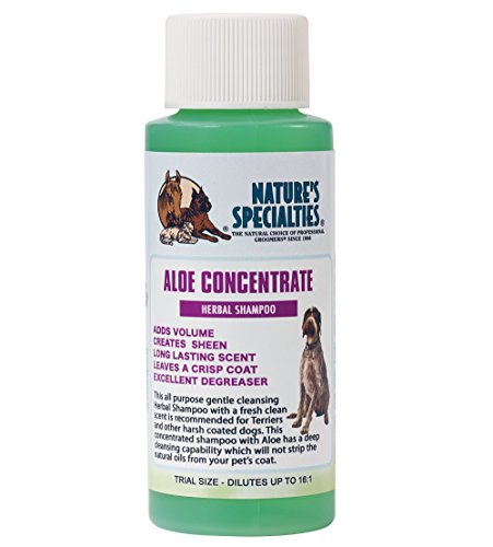 Nature's Specialties Aloe Concentrate Shampoo for Dogs Cats, Non-Toxic Biodegradeable, 2oz (CONC02)